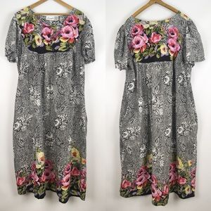 Vintage | mumu nighty plus size 2X batik floral